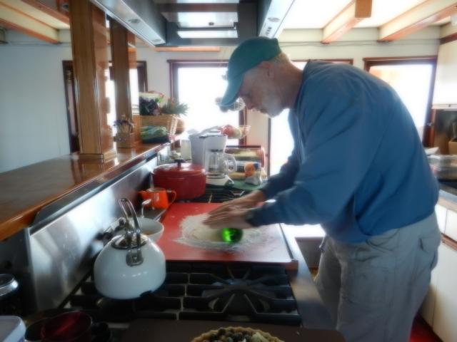 Dennis making pie crust