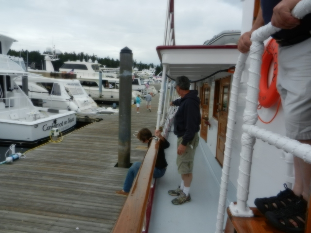 Docked at the Customs Dock at Roche Harbor