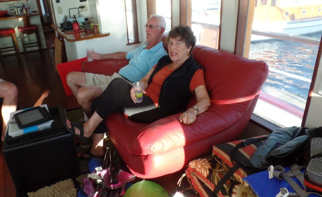 David and Susan relaxing