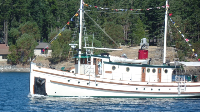 Teal coming into Friday Harbor, her home port