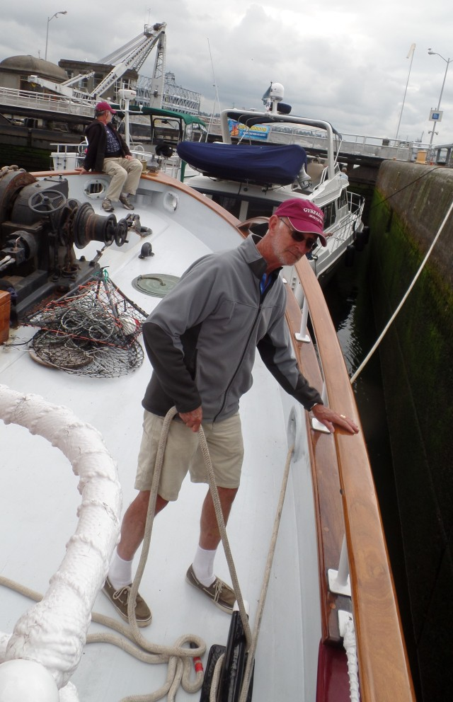 Manning the lines in the large locks