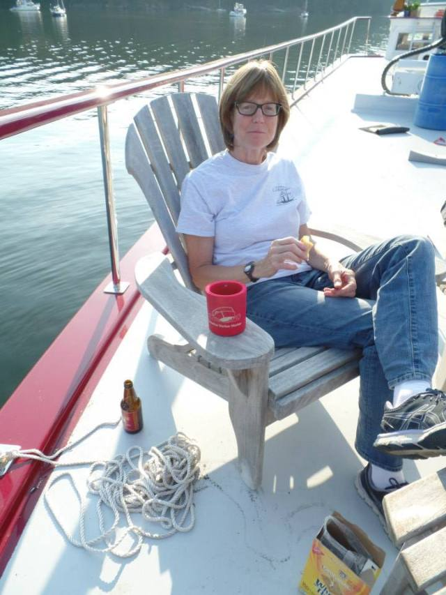 Capt Nancy relaxing