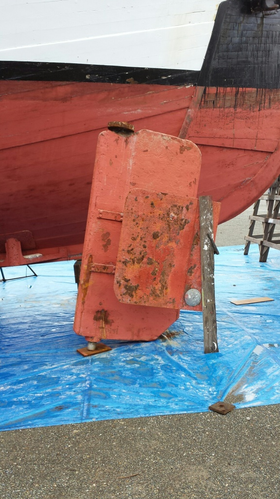 Rudder after removal from Gyr
